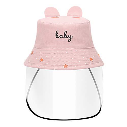 Kinderhut,Anti Saliva Gesichtsschutz, Anti-Staub und Anti-Allergie-Transparent Schutzhelm, Fischer-Hut