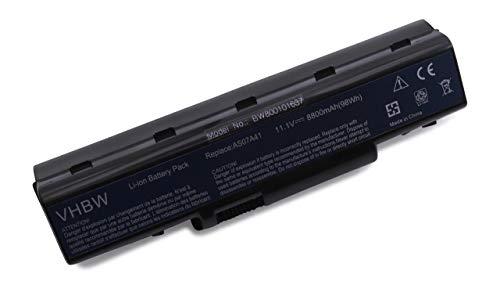 vhbw Batería Recargable Compatible con Acer Aspire 5532, 5542-1462, 5735, 5735Z, 5735Z-582G16Mn, 5737, 5737Z Notebook (8800 mAh, 11,1 V, Li-Ion)