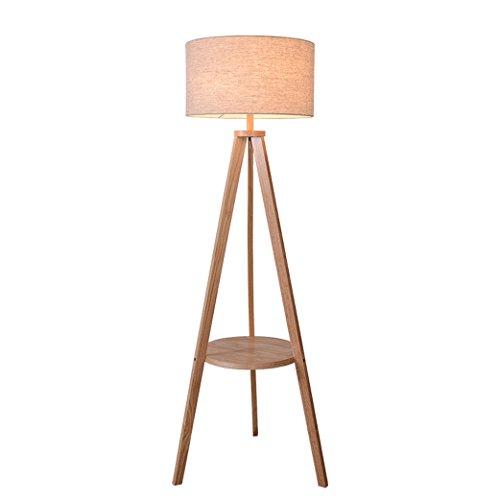 YISUNF Madera Sólida Lámpara nórdica Sala de Estar Dormitorio de la lámpara Moderna Simple Lámpara Creativa del trípode Retro iluminación