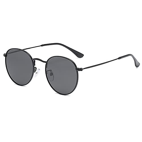 BEIAKE Gafas De Sol Polarizadas para Mujeres Gafas Anti-UV Marco Redondo Sombreado Gafas para Ciclismo, Viajes, Playa, Conducir,2