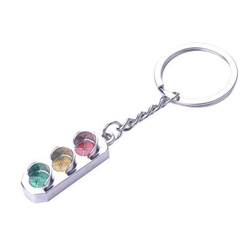 Wakerda 1 llavero de aleación con diseño de semáforo, para decoración de bolso, colgante con hebilla de llave creativa, regalo para mujeres y hombres