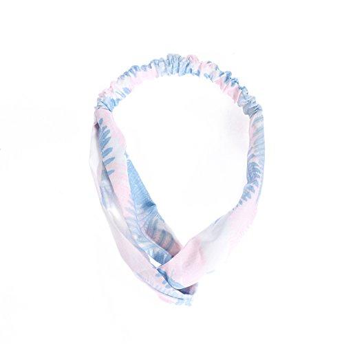 Tinksky Femmes Croix Bandeau de Cheveux Élastique Head Wraps Band Headwear pour Sport Entraînement Hawaiian Luau Party Supplies (Rose)