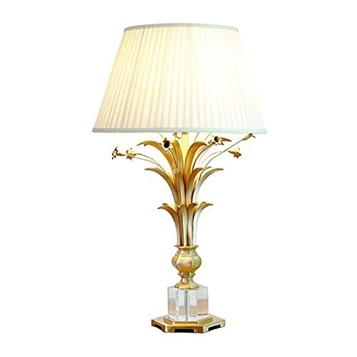 GZQDX Todas Las lámparas de Mesa de Cristal de Cobre Estilo francés Sala de Estar Dormitorio Estudio de Noche Hotel Showroom Modelo Habitación Lámpara Decorativa