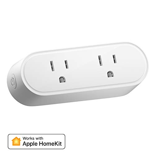 meross Smart Plug Dual WiFi Outlet Plug 2 in 1, Support Apple HomeKit, Siri, Alexa, Echo, Google Assistant, Nest Hub, Voice Control, Remote Control, Timer, No Hub Required