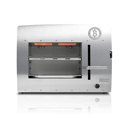 31F1ZEJ9wPL - Beefer Original XL   der echte 800 Grad Premium Oberhitze Gasgrill   Edelstahl, Hochtemperatur   Der Hochleistungsgrill für das perfekte Steak   MEHR Fläche für MEHR Fleisch