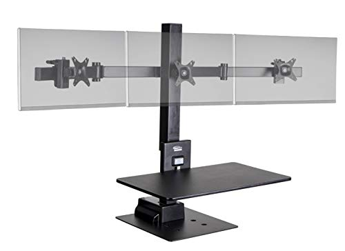 Ergotech Freedom Electric Stand, Includes Triple Monitor Mount, 0-88.2lbs Weight...