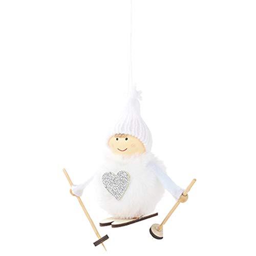 xmelug Decoración De Juguete De Muñeca Colgante De Navidad, Muñeca De Muñeco De Nieve De Esquí Kawaii Colgante...