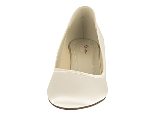Rainbow Club Brautschuhe Paula – Ivory Satin – Pumps - 3