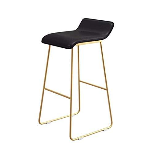 ZfgG barkruk, industriële stoel, voetensteun, barstools, rugleuning voor keuken, pub, café, kruk, PU, ijzer, stoelen van leer, modern, eenvoudig, hoge starteigenschap, ontbijt, voor buiten