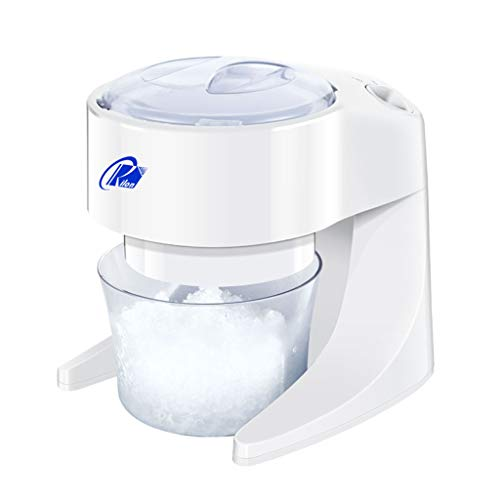 Find Bargain Machine 40W Electric Ice Crusher, Shaver Snow Cone Maker Machine PP for Home Kitchen, W...