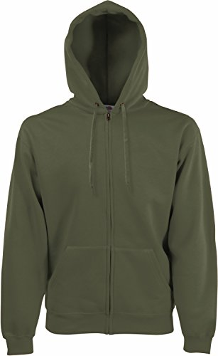 Fruit of the Loom Hooded Sweat-Jacket, Classic Olive, XXL