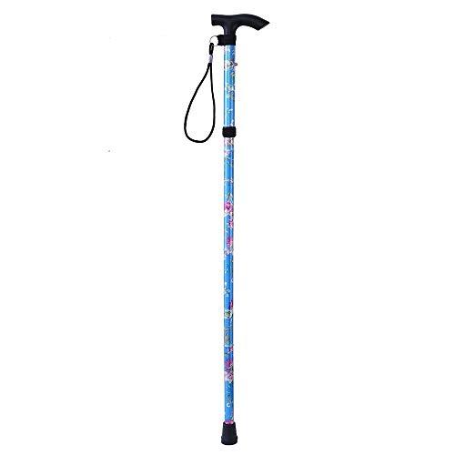 MiOYOOW Bastón de senderismo plegable, bastón de senderismo ajustable, de aluminio, bastones de senderismo para mujer, bastones telescópicos, bastones de senderismo