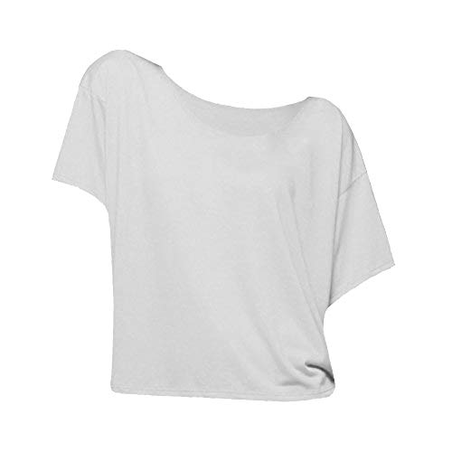 Bella Ladies/Womens Boxy Short Sleeve T-Shirt (M) (White)