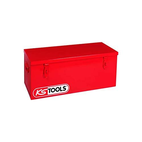 KS Tools 999.0190 - Coffre de chantier sans plateau - 1000 x 480 x 365 mmFermeture métallique - Cadenassable - Poignées renforcées - Plateau amovible inclus