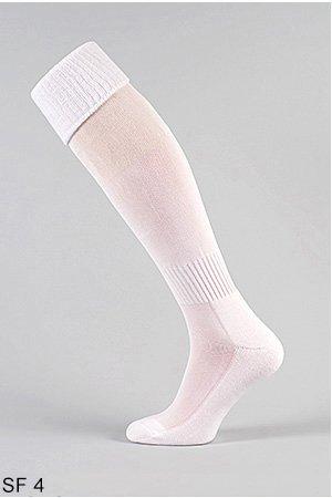 Voetbalsokken, sportsokken eenheidsmaat 41-45 / voetbal, steunen, sokken (wit SF4)