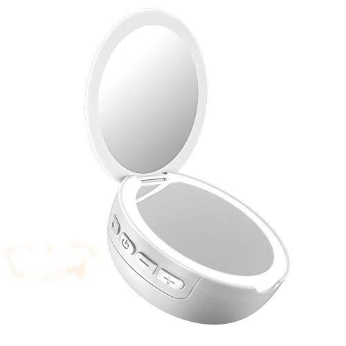 Bluetooth Lautsprecher Make-up-Spiegel und Bluetooth-Lautsprecher for Fill Lightsome Lampe (Pink) Asun (Color : White)