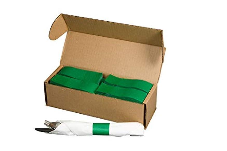 N. F. STRING & SON, INC. Green Napkin Bands, pre-cut, 2000 per box