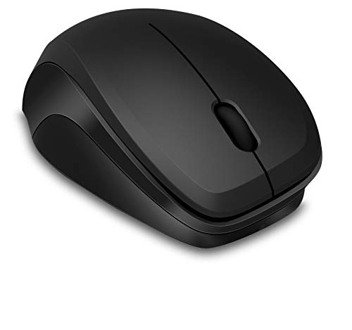 Speedlink LEDGY Silent Mouse Wireless - Ergonomische 3-knops draadloze muis voor kantoor/gaming/pc/notebook/laptop, zwart