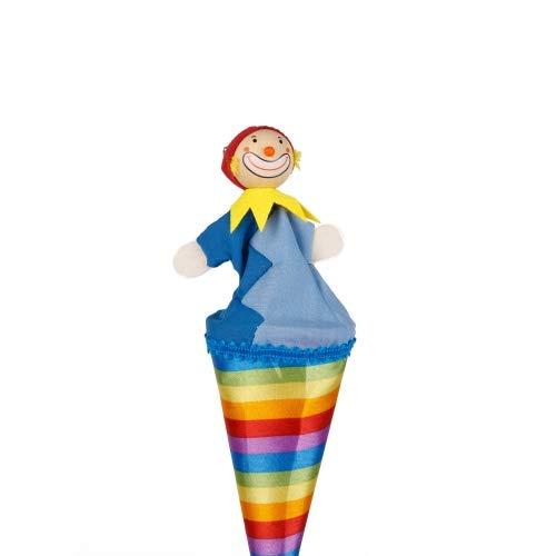 Brink Holzspielzeug Tütenkasper Clown bunte Streifen & Glöckchen