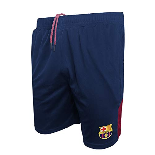 Icon Sports Men's FC Barcelona Officially Licensed Poly Soccer Shorts -04 XL