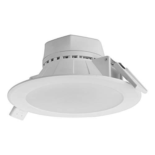 Preisvergleich Produktbild 2 x LED Einbauleuchte AURORA 230V Einbaustrahler mit diffuser Scheibe / 15W warmweiß (3000K) / Einbau-Ø 68 mm von SO-TECH