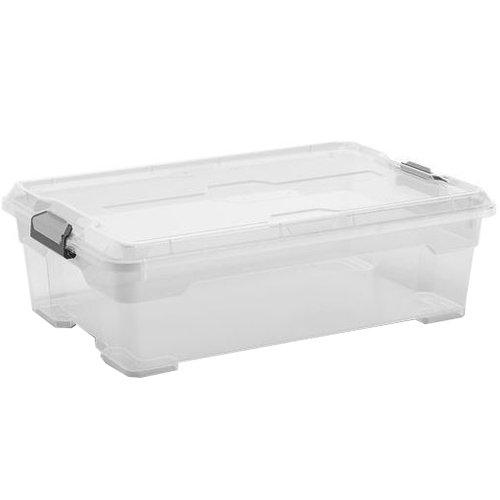 Kis 8462000 0202 02 Boîte de Rangement Moover Box 27 litres en Transparent, Plastique, 58x38x18 cm