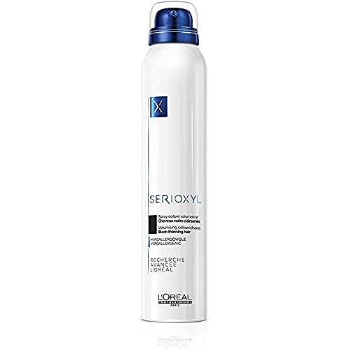 L'Oréal Professionnel Serioxyl Volumizing Coloured Spray spray colorido para dar volume ao cabelo Black 200 ml