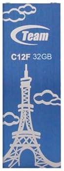 Team 32GB C12F Bookmark USB2 0 Flash Drive Eiffel Tower Blue product image