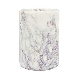 Marbco White Marble Wine Cooler, Wine Bottle Chiller, Kitchen Utensil Holder, Wine Accessories,Gift Ideas (Boysenberry)