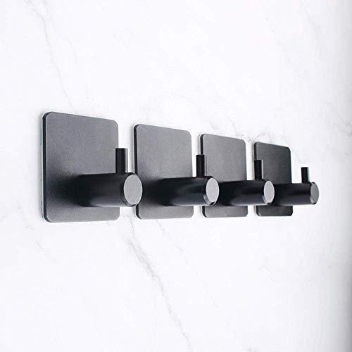 HYZXK Gancho Simple Blanco y Negro de Acero Inoxidable Percha para Ropa Simple Gancho para Abrigo 4PCS Cocina Baño-C2 Baño Oficina Aseo Suficientemente Fuerte