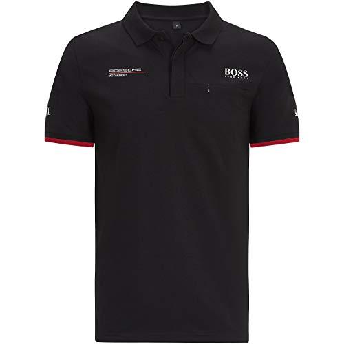 Porsche Motorsport Herren Poloshirt Team Schwarz, schwarz, Large