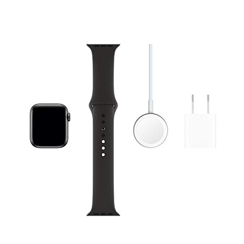 Apple Watch Series 5 (GPS+Cellular, 40mm) - Space Gray Aluminum Case with Black Sport Band 2