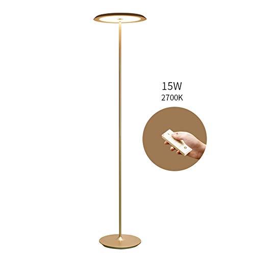 BAIYIQW - Lámpara de pie para salón moderna, LED regulable, lámpara de pie inteligente, para salón o dormitorio
