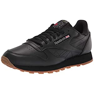 Reebok Unisex Classic Leather Sneaker, US-Black/Gum, 11.5 Men