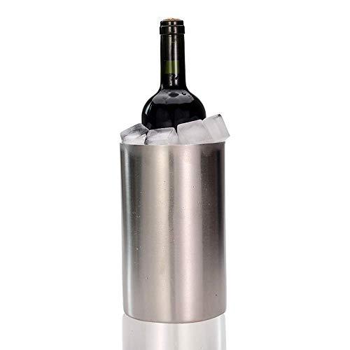 GOHHK Edelstahl Weinkühler Eimer, doppelwandiger isolierter Weinkühler/Champagner Eimer, Wein Mehrzweck Verwendung als Küchengerät