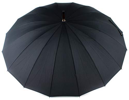 Doppler Regenschirm Natural London, Schwarz (Black), Länge ca. 89 cm, Durchmesser ca. 5 cm