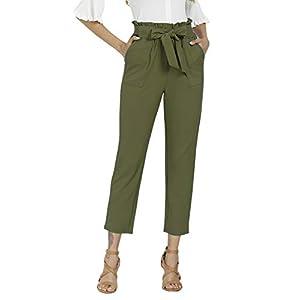 Women's Pants Casual Trouser Paper Bag Pants