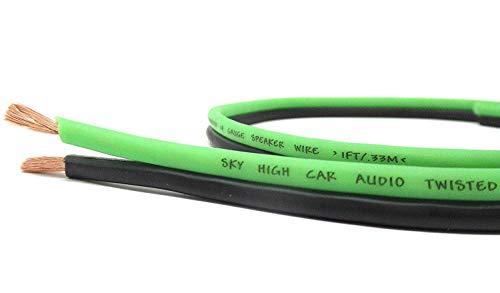 50' feet True 12 Gauge AWG OFC Speaker Wire Green/Black Car Home Audio