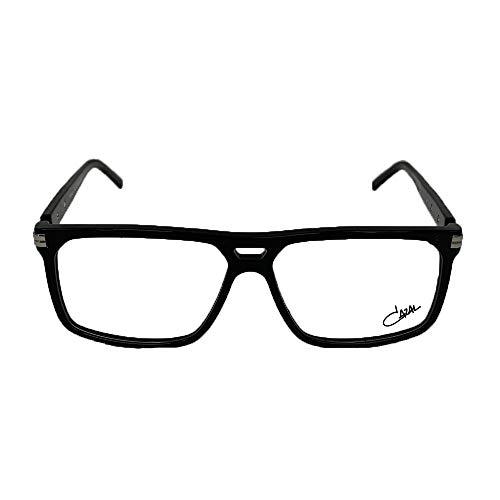 Cazal Eyewear 6021 002 Black Silver 58 13 145 + Hoya Lens Clear New 100% Authentic