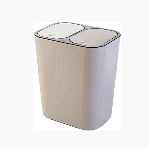 SHYPT La Basura Compartimento recicla Puede Combo Basura Camino Cubierta estación Organizador del envase de Cocina for Trabajo Pesado (Color : A)