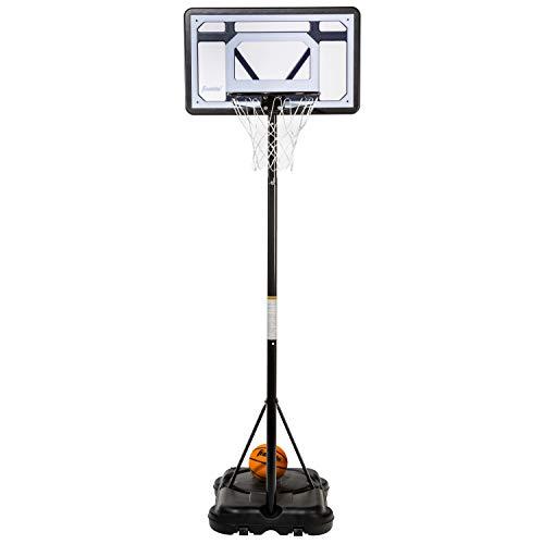 """Franklin Sports Kids Basketball Hoop - Adjustable, Portable Basketball Hoop - Adjustable Height 5' to 7' - Driveway Hoop - 30"""" Backboard"""