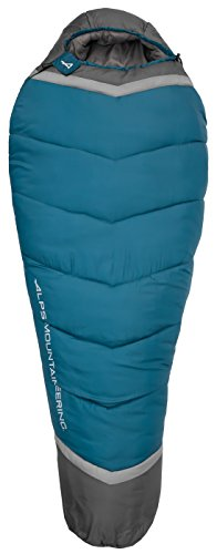 ALPS Mountaineering Blaze -20 Degree Mummy Sleeping Bag, XL, Blue Coral/Coal (4592441)