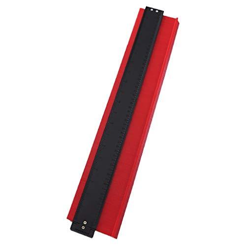 Fan-Ling 20 Inch Profile Contour Gauge Duplicator,Shape Duplicator Precisely Copy Irregular Shapes Woodworking Shape Tracing Template Measuring Tool,Pipe Tile Frame Gauge (RED)