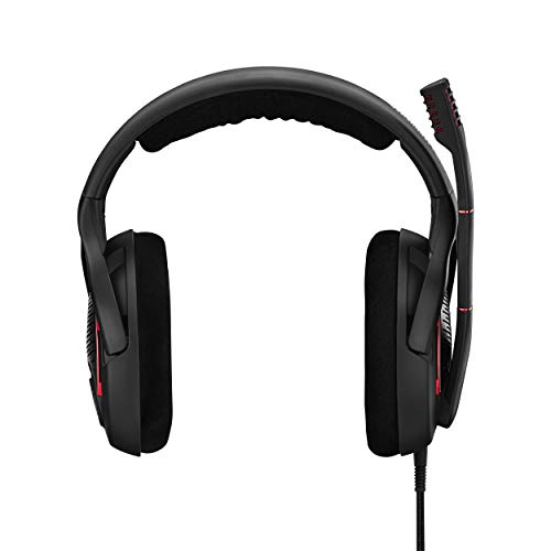 EPOS I Sennheiser Game ONE Gaming Headset, Open Acoustic, Noise-canceling mic, Flip-to-Mute, XXL Plush Velvet Ear Pads, Compatible with PC, Mac, Xbox One, PS4, Nintendo Switch, and Smartphone - Black