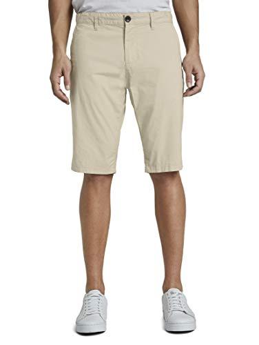 TOM TAILOR Herren Chino Bermuda Shorts Hose, 11032-Cashew Beige, 33