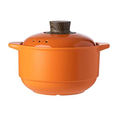 Ceramic Casserole Gasherd Open Flame Verwenden Sie Tontopf/Irdener Topf/Feuer HitzebestäNdige Suppe Hotpot KüChenkochgeschirr,Orange