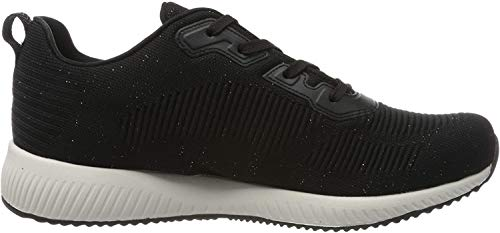 Skechers Women's BOBS SQUAD - TOTAL GLAM Trainers, Black (Black Multi Bkmt), 7 UK 40 EU
