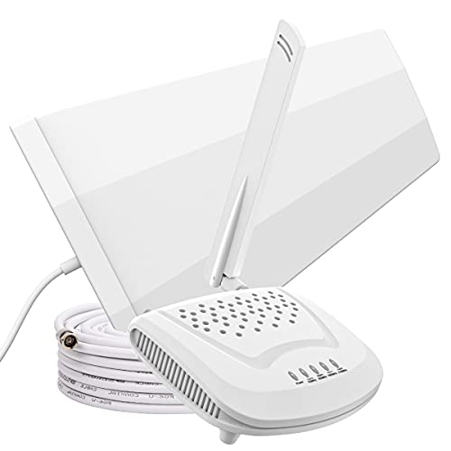 SolidRF Cell Phone Signal Booster for Home and Office, Up to 1,500 sq ft Support All US Carriers AT&T, Verizon, T-Mobile, Sprint, U.S. Cellular & More-Band 12/13/17/5/2/25/4, FCC Approved