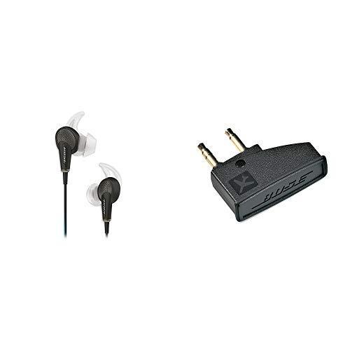 Bose QuietComfort 20 Acoustic Noise Cancelling Kopfhörerfür Samsung und Android Gerät schwarz & Bose ® Airline-Adapter für Bose ® QuietComfort 3