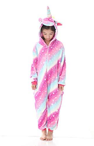 Lora Rossie Unisex Kids Unicorn Flannel Onesie Animal Pajamas Cosplay Costume -$12.59(70% Off with code)